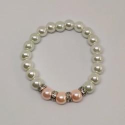 Náramek ze skleněných voskových perel