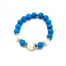 Náramek z minerálů Lapis Lazuli, Křišťál