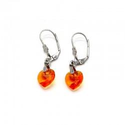Náušnice se Srdíčky oranžové