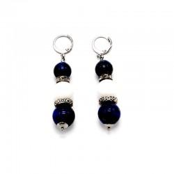 Náušnice z bílého Korálu, Lapis Lazuli