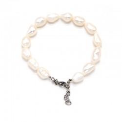 Náramek z říčních perel 9x13 cm