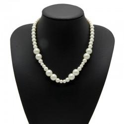 Náhrdelník z voskových perel 42-47 cm