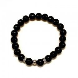 Náramek z minerálu černý Onyx